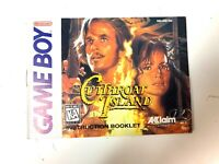 RARE! Cutthroat Island ORIGINAL NINTENDO GAMEBOY Instruction Manual Booklet Book