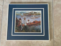 ART PRINT Oarsmen at Chateau 1879 Pierre Auguste Renoir RARE Framed Matted