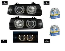 2 FEUX PHARE AVANT ANGEL EYES BMW SERIE 3 E36 COUPE + CLIGNOTANTS + 4 H7 XENON