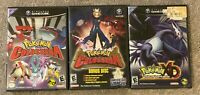 Pokemon Colosseum + Bonus Disc + XD Gale Of Darkness All CIB Special Jirachi