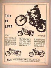 Jawa Motorcycle PRINT AD - 1964 ~~ CZ & Supersport