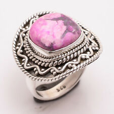 925 Sterling Silver Ring SizeUS 6, Natural Pink Sugilite Gemstone Jewelry CR2535