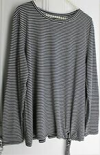 Slouch Loose Black & White Striped Top ~ Size 18