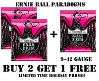**3 SETS ERNIE BALL PARADIGM 2023 SUPER SLINKY ELECTRIC GUITAR STRINGS (9-42)**