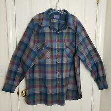 Mens Pendleton Shirt Sz 3X High Grade Western Wool Pearl Snap Plaid Vintage