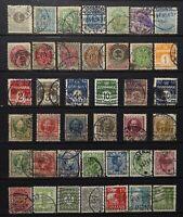 1882-1950 > DENMARK > Used Vintage Stamps.
