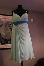 Prom or Bridesmaid Dress - Veromia, Caribbean/Azure, Chiffon, Size 14