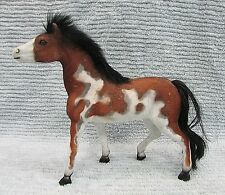 "Totsy Toy Vintage 1990's Felt Velvet Covered Plastic 8"" Model Horse FREE S/H"