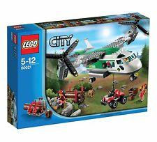 LEGO CITY BIPLANO MERCI CARGO HELIPLANE 5-12 RARO FUORI PRODUZIONE  ART 60021