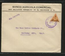 El Savador triangle stamp on large cover to Us Ms0119