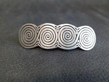 St Justin Pewter Celtic Design Hair Slide/Barrette Clip.