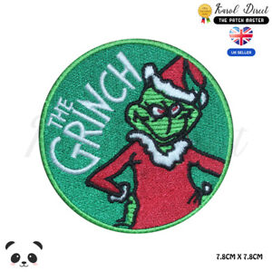 The Grinch Christmas Embroidered Iron On Sew On PatchBadge For Clothes Jean etc