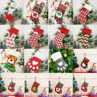 Multi Merry Christmas Hang Stocking Gift Bag Candy Bags Storage Pouch Xmas Decor