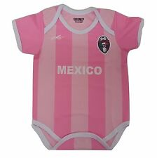 Mexico Soccer Pink Baby Outfit Jumpsuit Mameluco New Made in Mexico