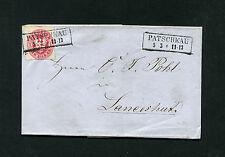"""patschkau"" très clair ra2-lettre enveloppe de 1864 (#776)"