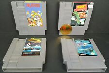 (4) Nintendo NES Games Dr Mario Target Renegade 3D WorldRunner Silent Service