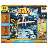 Star Wars Command Epic Assault Set - 22 Figures and Vehicles -Create battles