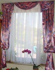 doppel Satin - Gardine pink-grau für ca. 130-150 Breite