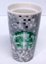 STARBUCKS COFFEE CO. RODARTE Pixel Double Wall Ceramic Travel Tumbler 12 oz 2012