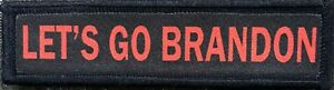 1x4 Let's Go Brandon  Morale Patch Tactical Military Army Funny Biden FJB