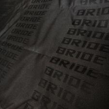 FULL BLACK BRIDE Fabric Seat Cover For RECARO/BRIDE Racing Seat Cover 1m x 1.6m