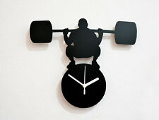 Mr Universe Weight Lift Silhouette - Wall Clock