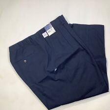 BE4 Basic Editions Mens Big+Tall Pants w// Elastic Side NWT Navy Blue