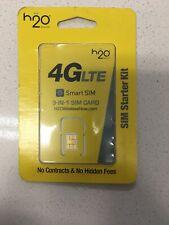 Lot Of 3 h2o Smart SIM Starter Kit 3-in-1 GSM SIM Card