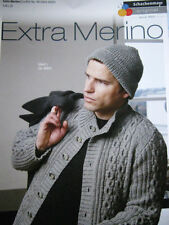 Knitting Pattern Schachenmayr Extra Merino Mens Cabled Cardigan and Beanie