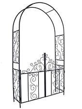 "1.Go Steel Garden Arch with Gate 7'5"" High x 4'2"" Wide Garden Arbor for Vario..."