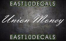 Union Money windshield banner vinyl car decal sticker diesel ford duramax 1500
