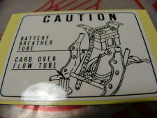 HONDA CB 750 Four k1 k2 ADESIVO BATTERIA Mark Battery Caution
