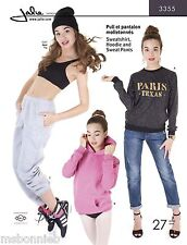Jalie Sweatshirt, Hoodie, Sweat Pants Sewing Pattern 3355 Women & Girls 27 Sizes