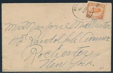 #C1 F-VF 1918 6¢ ORANGE TIED BY DUPLEX ON COVER TO ROCHESTER, NY BR1935