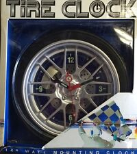 "Tire Wall Mount Clock 14"" Limited Editon"