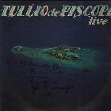 "TULLIO DE PISCOPO - RARO LP 33 GIRI 1981 CON AUTOGRAFO "" LIVE """