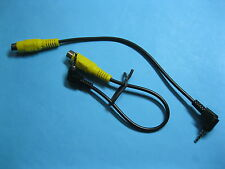 50 pcs 2.5mm 4 Pole Angle Male Plug to RCA Female Jack Connector Cable 20cm