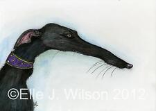 A Little Crooked Nose - Greyhound Art Dog Print