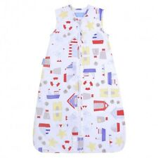 Gro Company Travel Grobag Sandcastle Bay 1.0 Tog for Summer Front Zip 0-6 Months