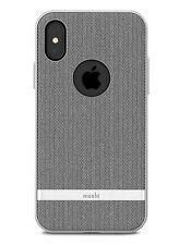 Moshi Vesta textured Hardshell Case for iPhone X (Herringbone Gray)  MV946