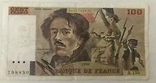 Billet 100 Francs Eugéne Delacroix B.158 1990