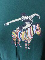 PAUL SMITH Green Zebra Runner Shirt Sleeve T-shirt SIZE Medium