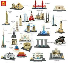 WANGE Worlds Great Architecture Series Building Block Sets 27 Sets to Choose
