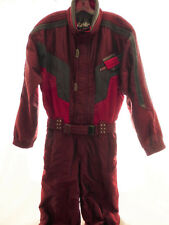MENS L KAELIN Solar Energy 1 Pc Vintage Red Ski Snow Suit Jacket Pants