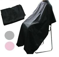ADULTS KIDS BLACK HAIR SALON HAIRDRESSING CUTTING CAPE COVER BARBERS GOWN