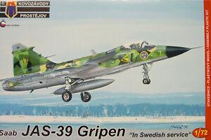 """Saab JAS-39 Gripen """" IN Swedish Service """" , 1:72, KP, Plastic Model Kit, New"""