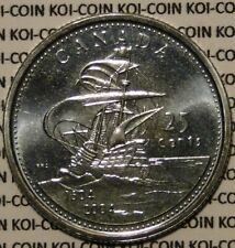 UNC Canada 1604-2004 L'Acade St Croix ship 25 cent quarter coin from mint roll