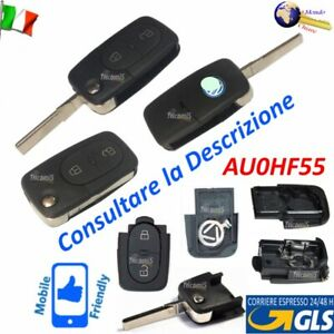 CHIAVE Telecomando GUSCIO AU0HF55 LAMA FLIP 2 TASTI per AUDI A2 A3 A4 A5 A8 TT