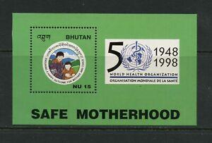 G017 Bhutan 1998 W. H. O.Feuille MNH