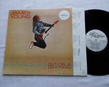 James YOUNG (STYX) Out on a day past FRENCH LP+Inner HIGH DRAGON (1988) M/NMint